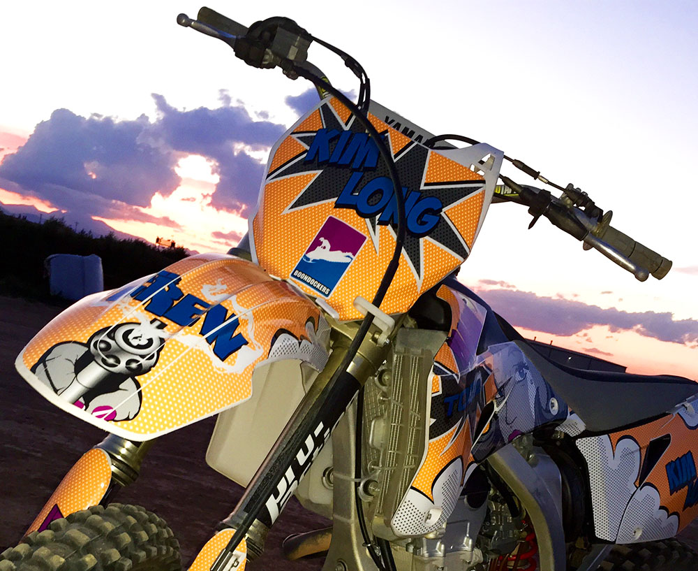 Yamaha Yz Yzf Custom Kim Long Motocross Graphics Motofx Graphics on Yamaha Go Cart